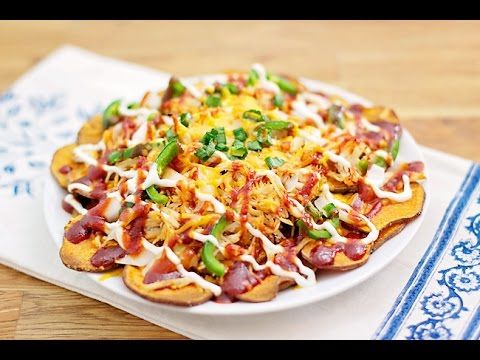 Baked Potato Chip Nachos recipe