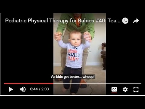 Pediatric Physical Therapy for Babies #40:  Teaching Walking
