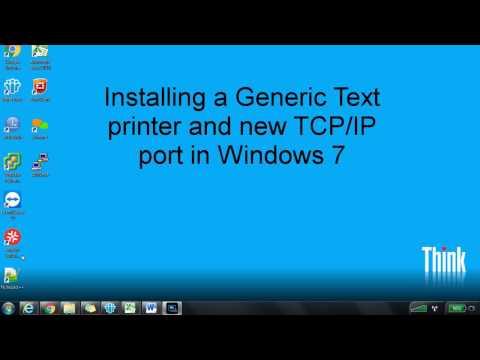 Add a Generic text printer & TCP/IP port in Windows 7
