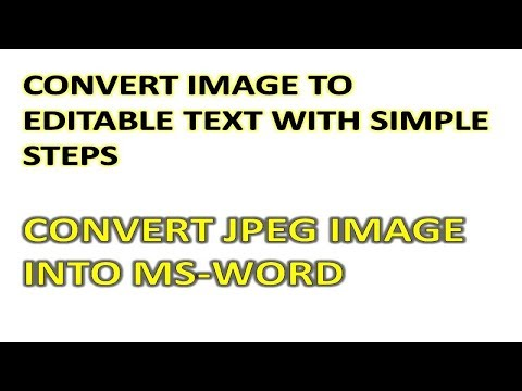 JPEG TO WORD CONVERT || Convert Image Into Editable Text