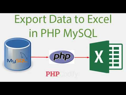 Export table data to Excel using PHP - MYSQL without PLUGIN