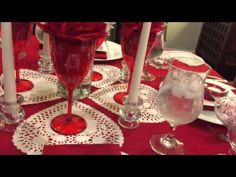Setting a Romantic Valentine's Table