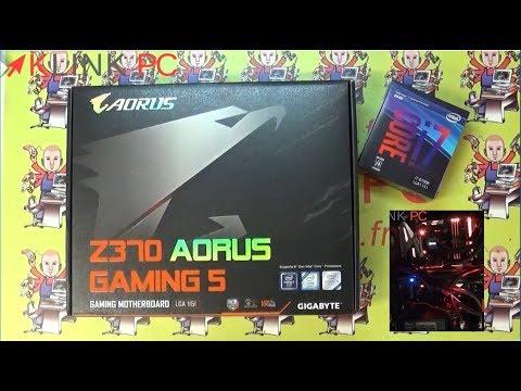 Unboxing Gigabyte Z370 AORUS Gaming 5 Presentation du bios et RGB Fusion