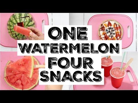 One Watermelon... Four Healthy Snacks for Kids | Watermelon Hacks
