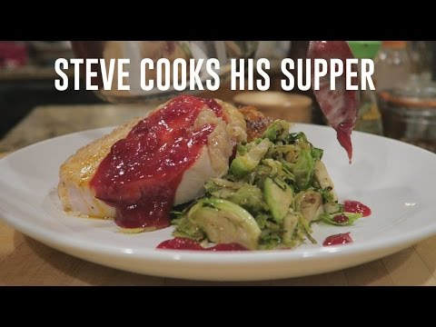 ROAST TURKEY BREAST WITH HONEY SMOKED SWEET POTATOES & CRANBERRY ONION JAM | Steve's Suppers