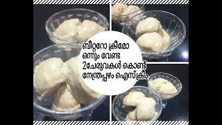 വെറും 2ചേരുവകൾ കൊണ്ട് നേന്ത്രപ്പഴം ഐസ്ക്രീം/Banana ice cream without beater
