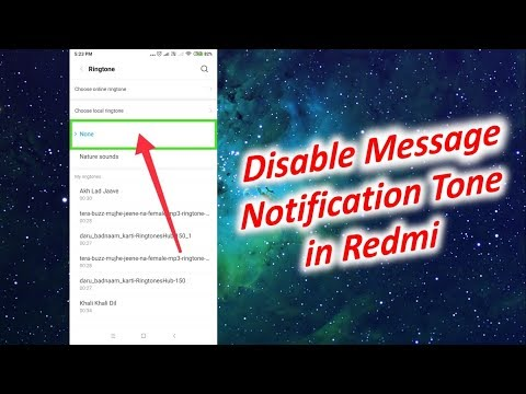 How to Disable Message Notification Tone in Redmi Note 5