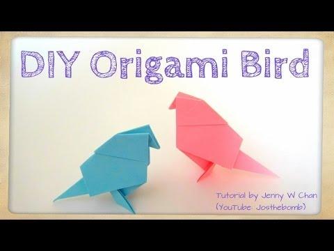 DIY Origami Bird Tutorial - Paper Crafts (Easy)