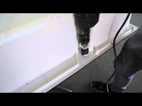 Franke How-to: Drilling a tap hole in Tectonite sink