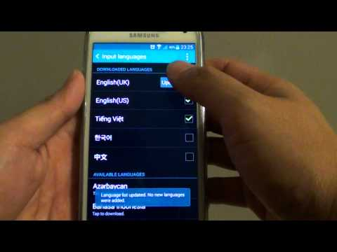 Samsung Galaxy S5: How to Switch to a Different Language Input on Keyboard