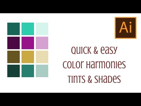 Illustrator - Create Tints Shades and Color Harmonies in seconds