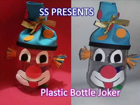 DIY: Make containers from plastic bottle (gift boxes) joker face