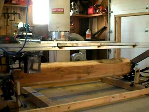 Sawing a log into boards