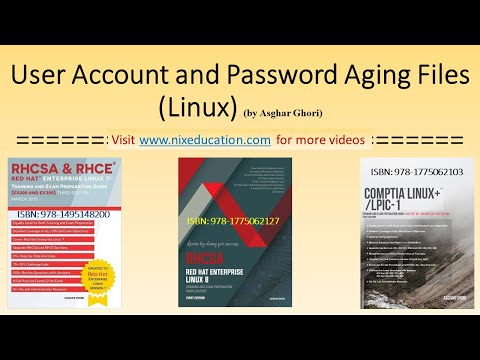 User Account and Password Aging Files in Linux