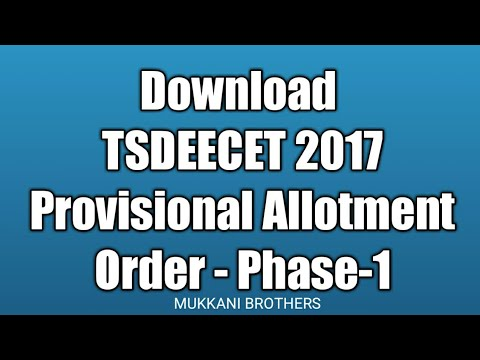 TS DEECET/DIETCET 2017 D.Ed Seat allotment Letter/Order Copy Download @tsdeecet.cgg.gov.in