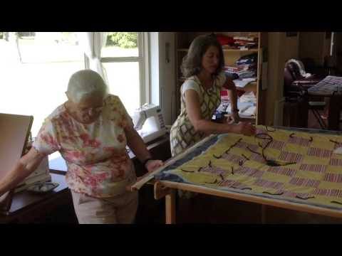 Making a tied quilt #5