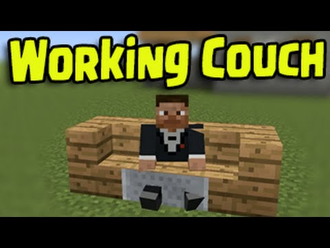 Minecraft PS3, PS4, Xbox, Wii U - Working Couch and Chair (How To Sit Down)
