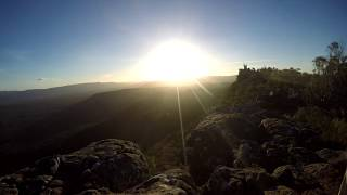 Sunset Time Lapse in the Mountains of Grampians National Park, Australia