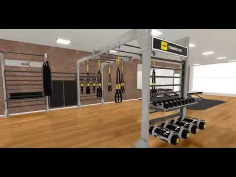 3D gym walkthrough video