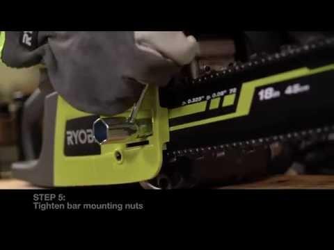 RYOBI Australia: How to adjust the tooled chainsaw chain