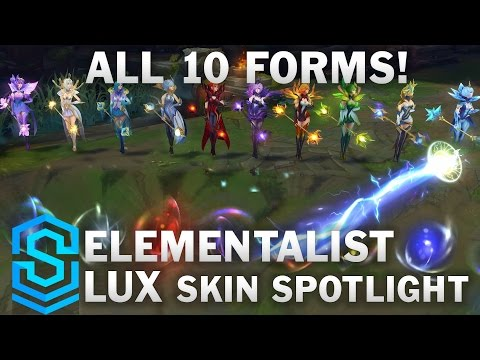 Elementalist Lux (Ultimate Skin!) Skin Spotlight - Pre-Release - League of Legends