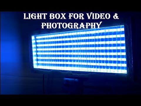 How to make a Lightbox for video making and photography!!! (Part 1)