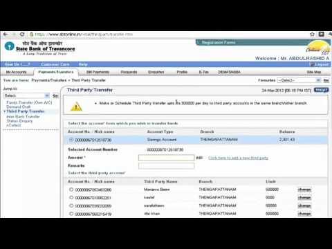 IFSC Code SBI Bank Online Fund Transfer
