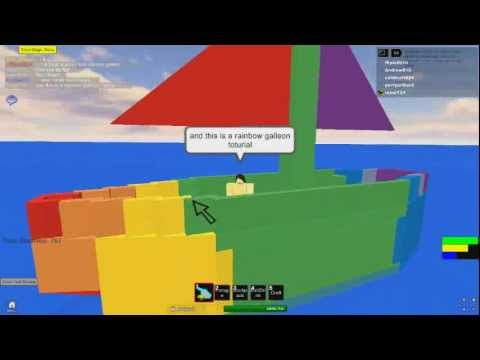 Rainbow galleon toturial at survival 404 in roblox