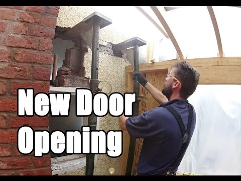 Cutting a door opening in a solid wall Time-lapse