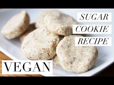 How To Make Healthy Sugar Cookies   Vegan, Raw and Gluten Free