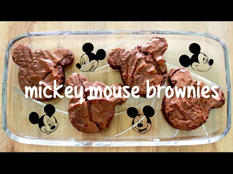 Chewy Fudgy Mickey Mouse Brownies! ✿ PastelDaisy