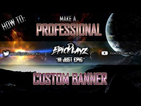 HOW TO: Make A Professional YouTube Banner [FOR FREE] [PAINT.NET]
