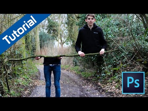 How to make a body cut photo in Adobe Photoshop - Tutorial