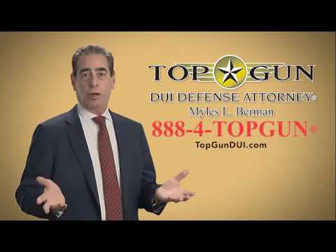 New Top Gun DUI Defense Attorney® Myles L. Berman® SoCal TV commercial
