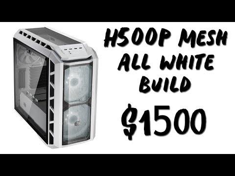 ($1500) Building All White H500P Mesh Gaming + Streaming PC! (Ryzen 1800X + RX 580)