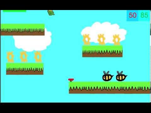 Flowerman Platform Game using GameSalad