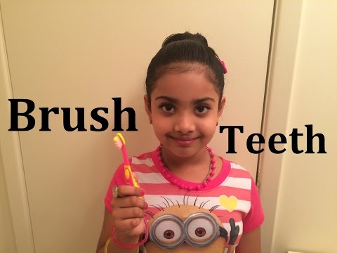 How to Brush Your Teeth Properly for Children Kids Girl Toddlers Baby - Learn Brushing Sound