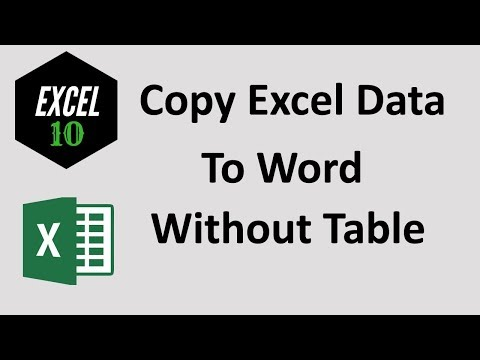 How To Copy Excel Data To Word Without Table