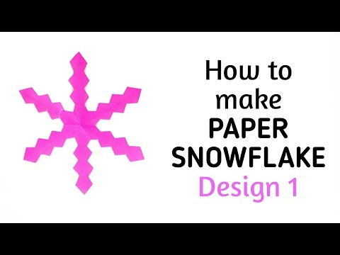 How to make simple & easy paper snowflake - 1 | Kirigami / Paper Cutting Craft Videos & Tutorials.