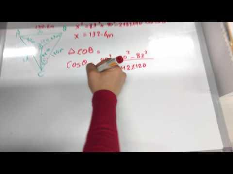 Non Right angle Triangles, Trigonometry Problem