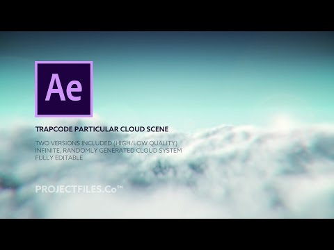After Effects Cloud Flyby (AE Project File, using Particular)
