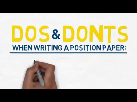 4 - Writing position paper