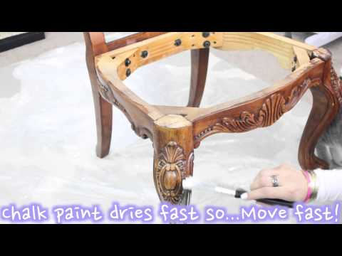 Accent Chair Restoration | Chalk Painted