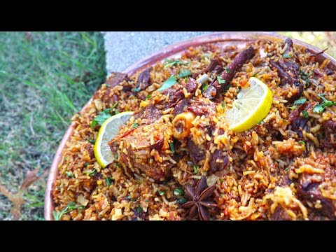 EASY MUTTON BIRYANI Recipe   How to make Mutton Biryani