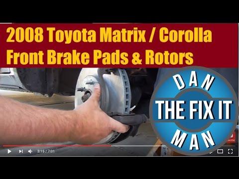 2008 Toyota Matrix & Corolla Front Brake Pads & Rotors DIY
