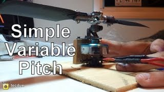 Diy: Simple Variable Pitch For Brushless Motor