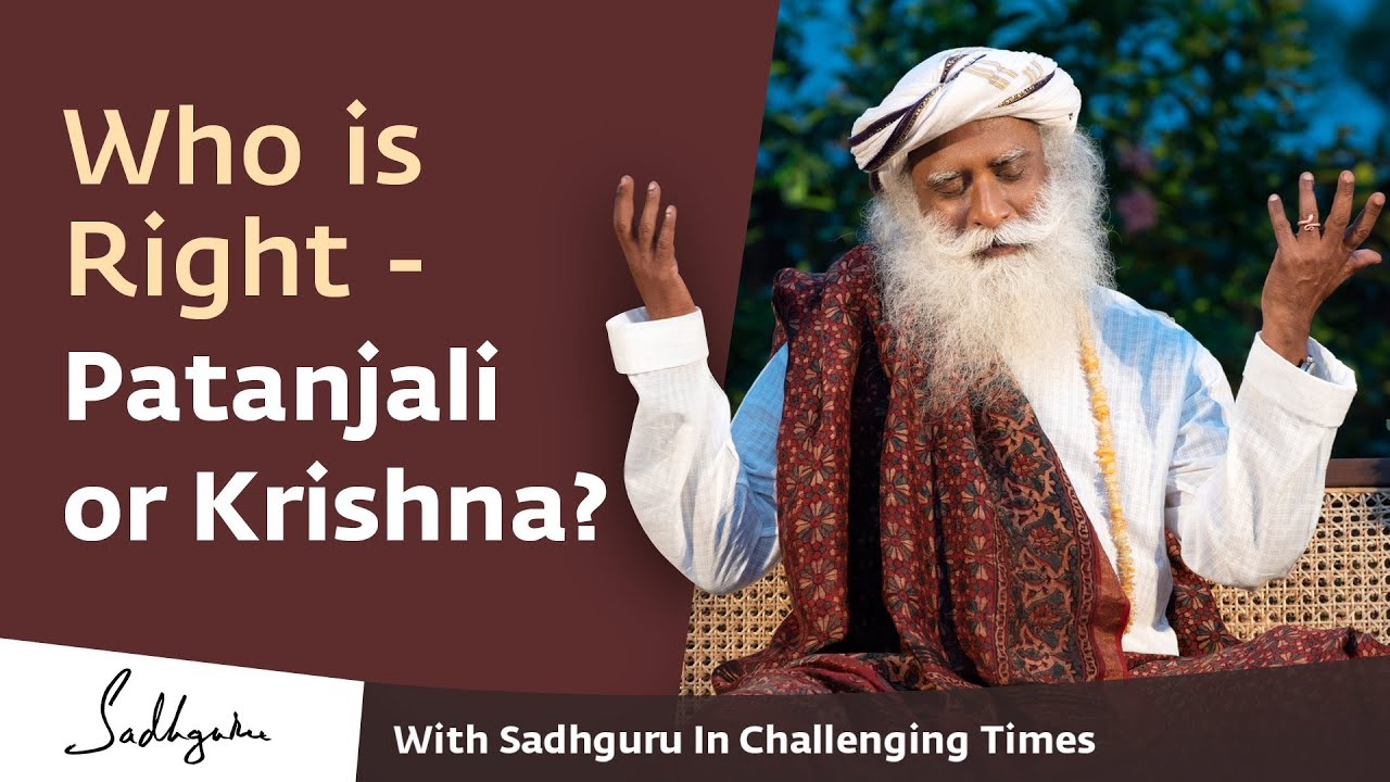 Who is Right - Patanjali or Krishna? 🙏 With Sadhguru in Challenging Times - 10 Apr