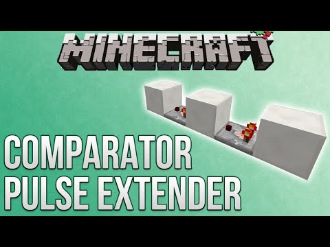 Minecraft: Comparator Pulse Extender Tutorial (Redstone Advent Calendar)