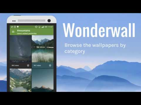 Wonderwall - HD nature wallpaper app with unique features [Android]