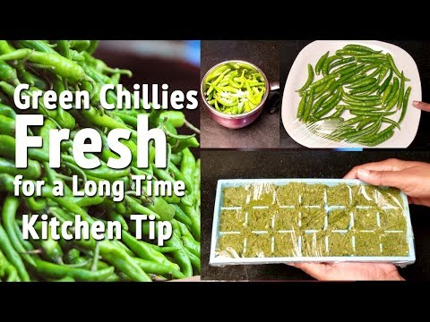 How to Store Green Chillies in Fridge | How to Keep Chillies Fresh | Kitchen Tips